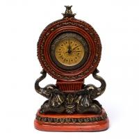 Часы красные статуэтки слонов 50653