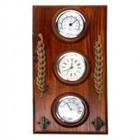 Часы-термометр-гигрометр настенные N010