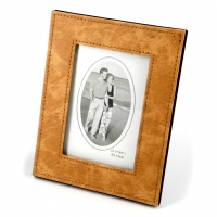 Рамка для фотографии 9 на 13 см из кожи прессованной коричневая K1