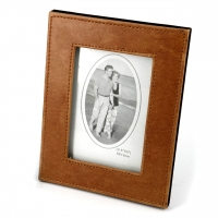 Фоторамка из эко кожи светло-коричневая 9х13 см Decos