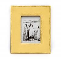 Фоторамка из эко кожи желтая 9х13 см