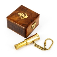 Брелок подзорная труба в деревянной шкатулке NI001A Two Captains