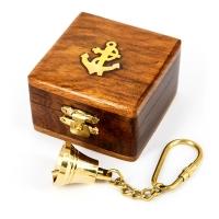 Брелок дзвіночок ринда в шкатулці з дерева NI013A