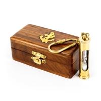 Пісочний годинник брелок в дерев'яній скриньці NI019A