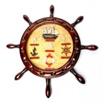Часы в морском стиле Штурвал корабля 009-1
