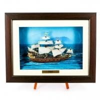 Картина модель боевого старинного корабля Vasa F08 Two Captains