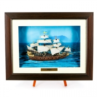 Картина модель бойового старовинного корабля Vasa F08