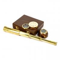 Научный набор с подзорной трубой, компасом и лупой NT.5273 Two Captains