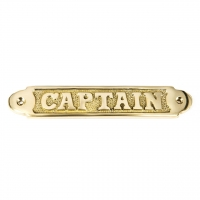 Латунная табличка в офис кабинета Captain 4114