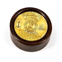 Календарь настольный на 100 лет в деревянном корпусе NI447D Two Captains