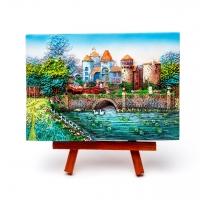 Картина пейзаж Замок у озера КОП-2-11