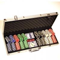 Набор для игры в покер на 500 фишек без номинала DM500NA Lucky Gamer