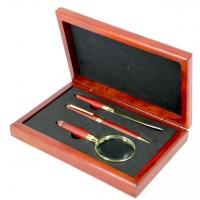 Набор с подарочной ручкой, ножом для конвертов и лупой 21-23 FBM