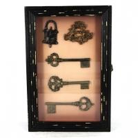 Ключница настенная Ключи коричневая 59461C-2
