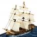 Модель корабля парусник Royal Caroline 15 см G03B