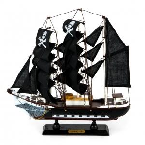 Деревянная модель парусника 34 см 3118G