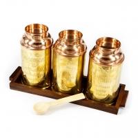 Банки для сыпучих продуктов емкости для чая, кофе, сахара диаметр 6,5 см 6363