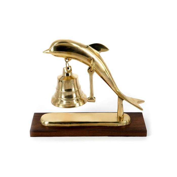 Колокольчик рында звонок настольный Дельфин 4677А