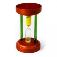 Годинник пісковий для сауни з дерев'яною підставкою ВМ-89-1