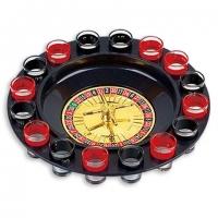 Алкогольная игра пьяная рулетка со стопками на 16 рюмок S16R