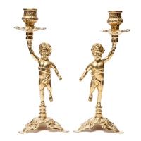 Пара подсвечников на 1 свечу Bambino 80.325 Alberti Livio
