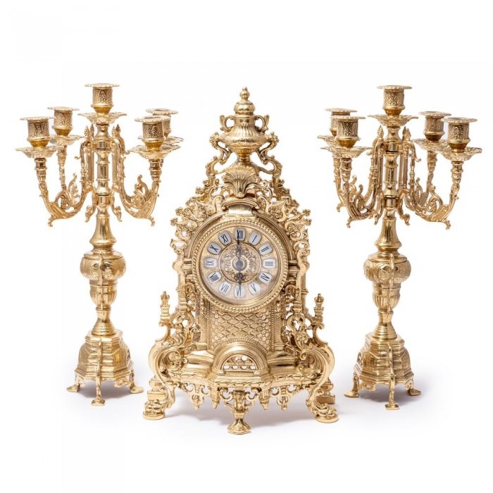 Часы для камина и 2 канделябра 82.103С