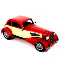 Модель ретро автомобиля красная CJ110503R