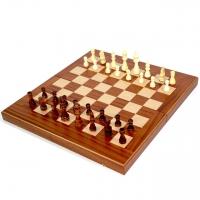 Шахматы и нарды Красное Дерево большие TS1M Manopoulos