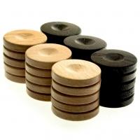 Фішки для нард дерев'яні великі з виїмкою PO1