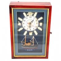 Ключниця настінні годинники корабель морська тематика N3020-21 Two Captains