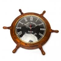 Годинники в вигляді штурвала чорні NI548 Two Captains