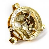 Старовинний сонячний годинник компас латунний NI234