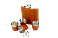 Большая фляга с рюмками 10 алкогольных заповедей A101