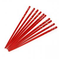 Набор палочек для суши красный 5 пар 09