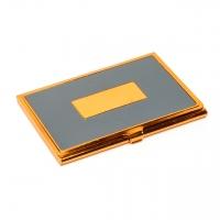Візитниця з металу золотисто-сіра 136-06 А Albero Ode