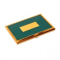 Визитница металлическая 136-07 А (зелёная с позолотой) Albero Ode