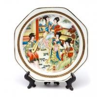 Декоративная тарелка с подставкой большая E Decos
