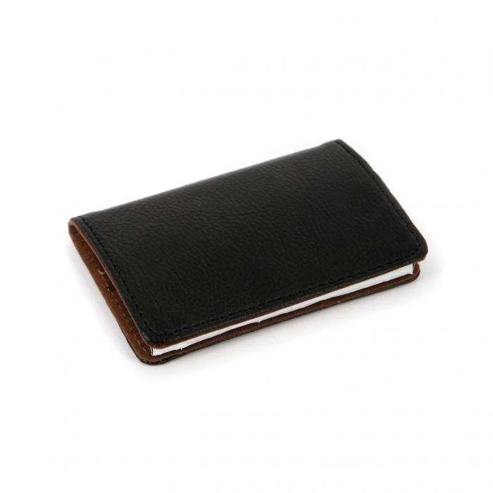 Визитница для карточек и визиток черная 903-A