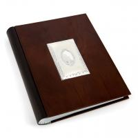 Фотоальбом з дерев'яною обкладинкою зі вставкою з посрібленням ELIT ZY06-2