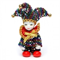Статуэтка фигурка кукла венецианский шут A2 №2-05