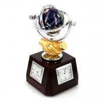 Глобус из камня подарочный сувенир с рукопожатием XL616В Albero Ode