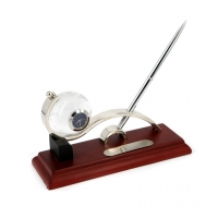Красиві настільний годинник з кульковою ручкою CA2201