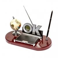 Подарочный канцелярский набор с глобусом и радио О кей 6094
