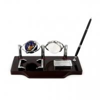 Подарочный настольный набор с ручкой и двумя глобусами BFQZ-GC15