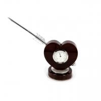 Стильні настільний годинник з ручкою Серце PW8045