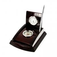 Настольный набор с часами компасом и ручкой PW8075