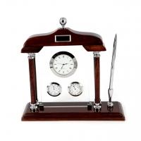 Оригинальный настольный набор с часами и ручкой PW8130