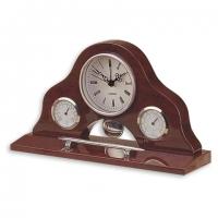 Набор офисный настольный подарочный PW8132 часы, гигрометр, термометр, ручка