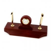 Настольные часы из дерева с подставками под ручки D775-101