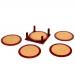 Подставки под чашки из пробкового дерева (набор 5 шт) 221